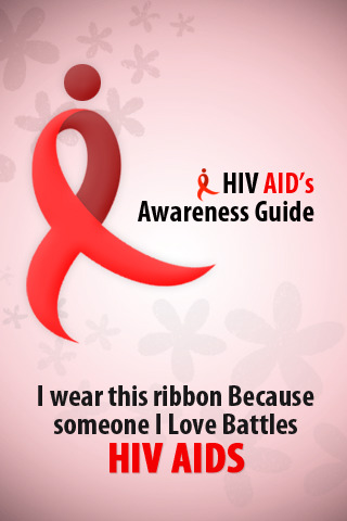 HIV Aid's Awareness Guide. I wear This Ribbon Because Someone I Love Battles HIV AIDS.