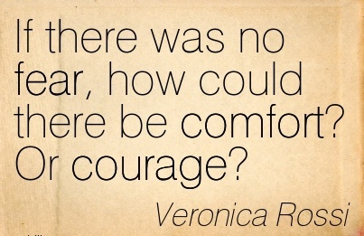 If There Was No fear, how Could There be Comfort! Or Courage!  - Veronica Rossi