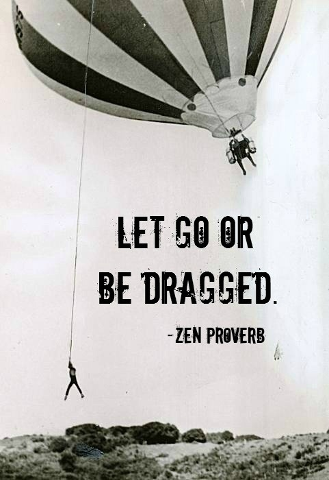 Let Go Or Be Dragged.- Zen Proverb - Comfort Quotes