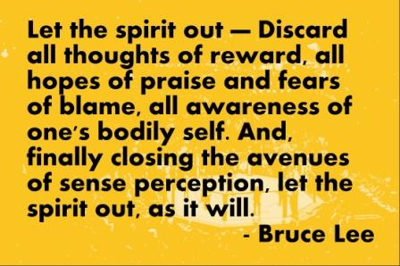 Let the Spirit out- Dicard All Thoghts of Reward, All hopes of Praise And Fears Of Blame, All Awareness Of One's Bodily Self. And, Finally Closing The Avenues Of Sense.