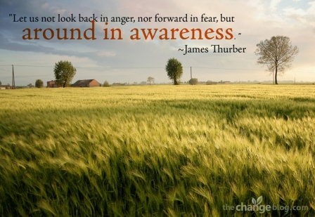 Let US Not Look Back in Angr, Nor Forward in fear, But Around in Awareness. - James Thurber