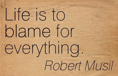 Life Is To Blame For Everything. - Robert Musil