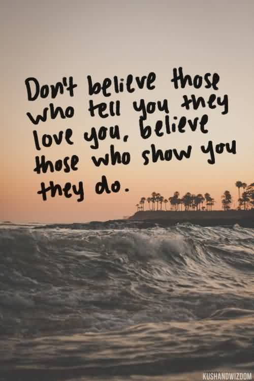 Love Believe Quote image-Don't believe everyone
