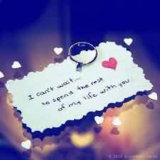 Love Life Cute Proposal image-Want to spend whole life with you