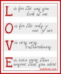 Love Life Cute Romantic Quote-Love is very extraordinary