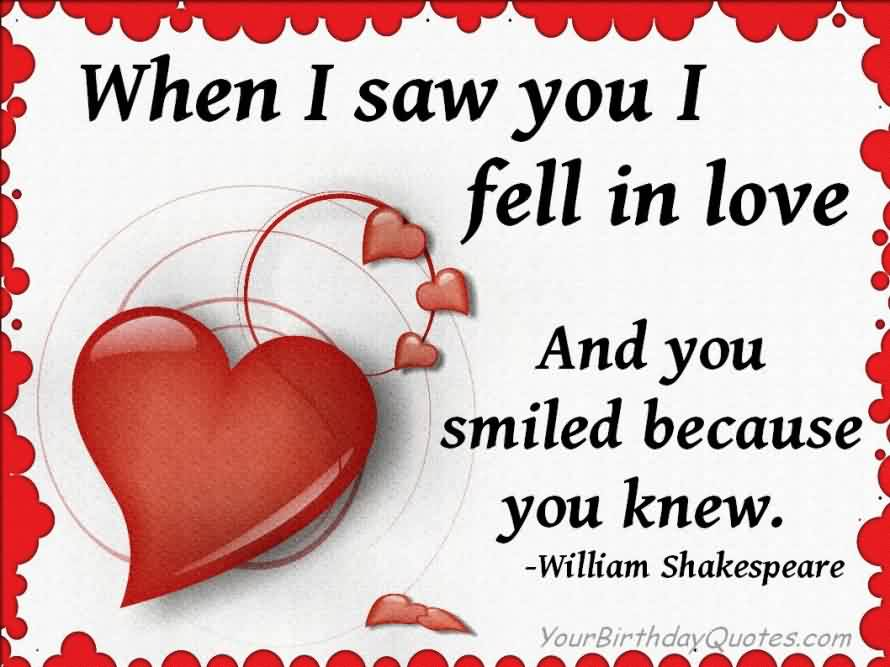 Love Quote-Fell in love and you smiled because you knew