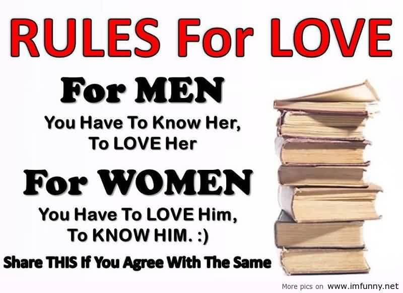 Love Quote for him and her-love rules
