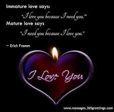 Love Quote for MAture Love-Love Heart candle Image-