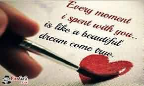 Love Quote-Love is Like a beautiful dream ome true