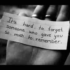 Love Quote Message Image-Hard to Forget someone