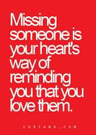 Love Quote-Missing Someone romantically