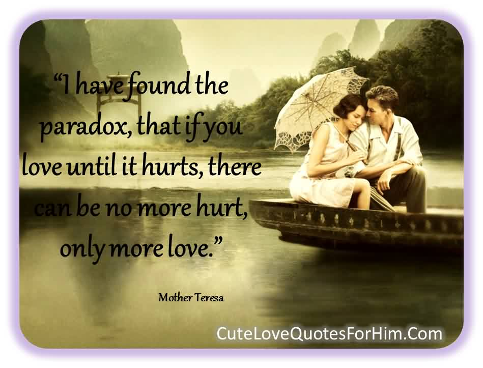Love Quote-No more hurt only more Love