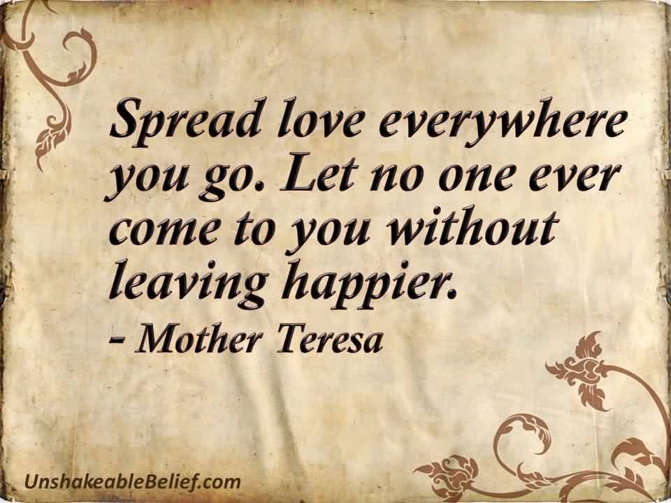 Love Quote-Spread love everyehere-mother teresa