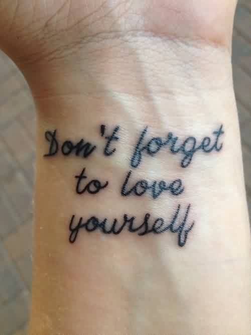 Love Yourself Quote Image-Don't Forget to Love Yourself