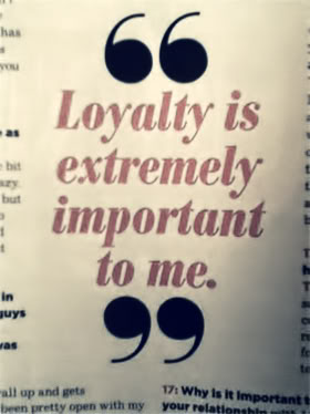 Loyalty Is Extremely Important To Me. - Cheating Quote