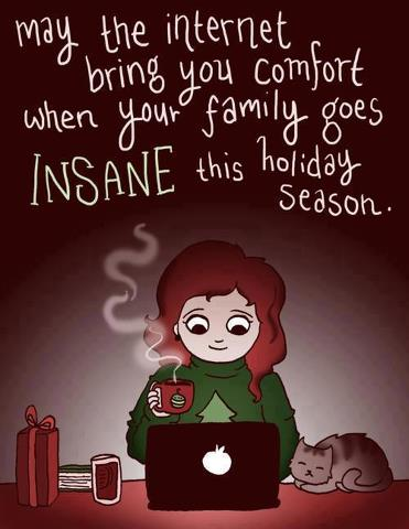 May the Internet bring you Comfort When your family goes Insane this Holiday  Season. - Comfort Quotes