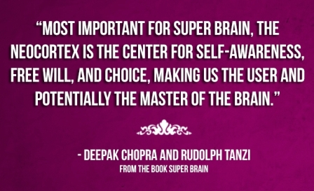 Most important  For Super brain, The Neocortex Is The Center For Self - Awareness, Free Will And Choice, Making Us The user And Potentially the Master Of The Brain.