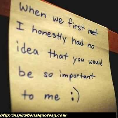 New Cute Love Quote-You are Important to me