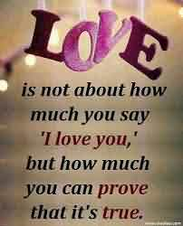 New Cute True Love Quote Image-How Much you say I Love yo