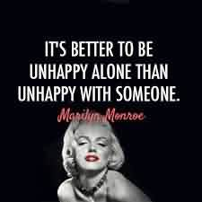 New Love Quote Image-It's better to be happy alone