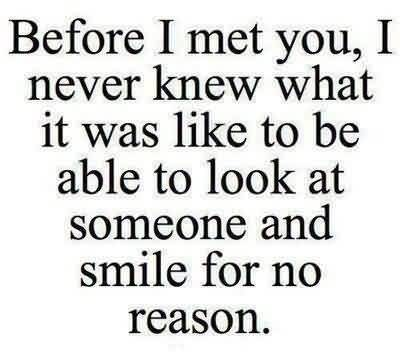 New Love Quote Image-Smile for no reason for someone