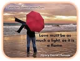 New Short Love Quote Image-Love Must be as much light as flame