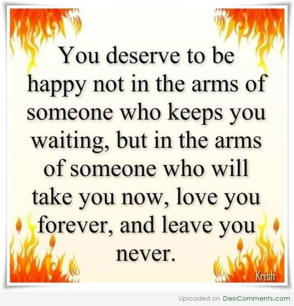 Nice Love Forever Quote Image-True Love never Leaves you
