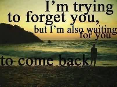 Nice Love Quote Image-I am waiting for you to come back to me