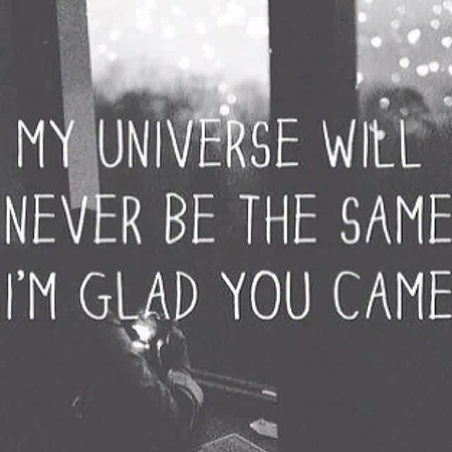 Nice Love Quote-You are My Universe