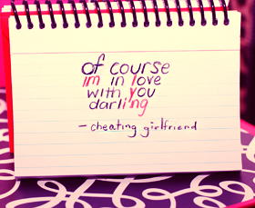 Of Course im in love With you Darling  - Cheating Girlfriend