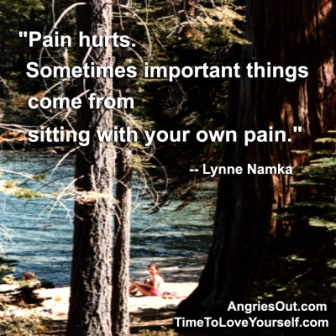 """""""Pain Hurts. Sometimes Important Things Come From Sitting With Your Own Pains."""" - Lynne Namka - Addiction Quotes"""