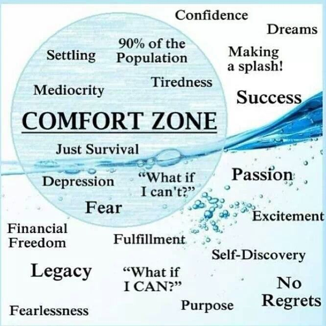 Pie Chart Of Comfort Zone In Life…. Comfort Quotes