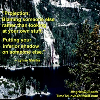 """"""" Projection; Blaming Someone Else Rather Than Looking At Your Own Stuff. Putting Your Inferior Shadow On Someone Else. """" - Lynna Namka"""