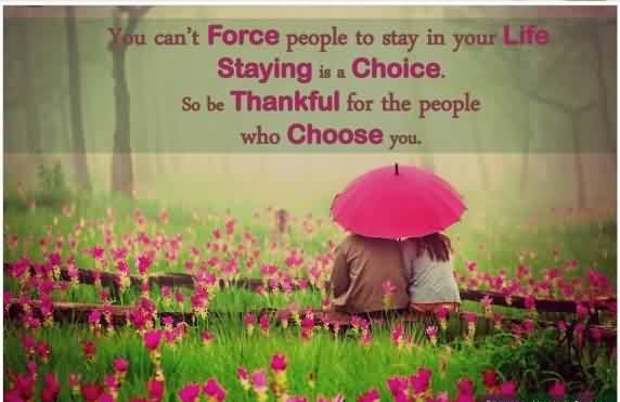 Real True Love Quote Image-People Stay in You Life with their own choice