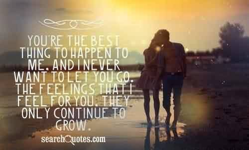 Romantic Cute True Love quote-Never want To let you go