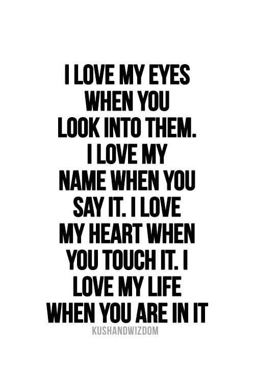 Romantic Love Quote-I Love my Heart because you are in it
