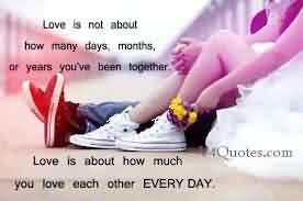 Romantic Love Quote Image-How much you Love each other everyday