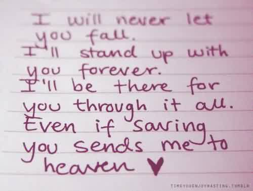 Romantic Love Quote-Will be there through it all