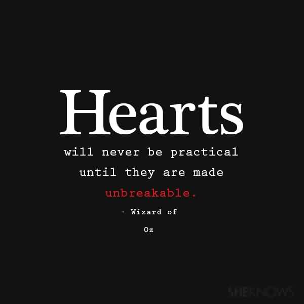 Romantic Short Love Quote-Heart will never be practical