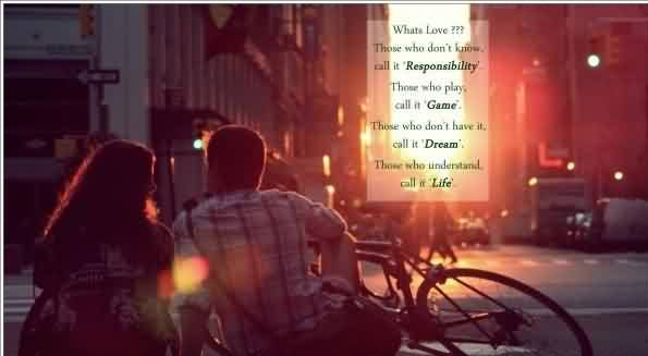 Romantic True Love Life Quote Image-Love is Like a game