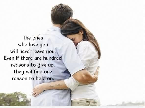 omantic True Love Quote Image-True Love find one Reason to hold you