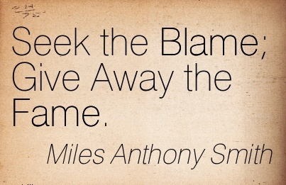 Seek The Blame Give Away the Fame - Mlles Anthony Smith