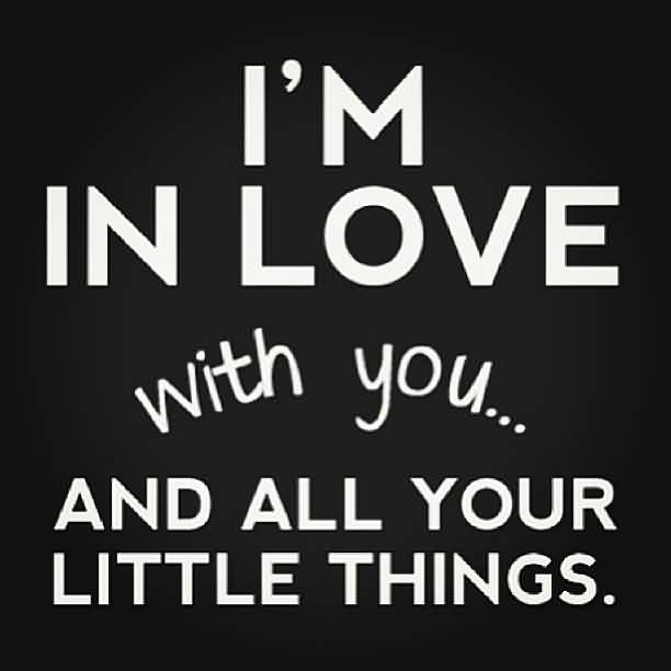 Short Cute Love Quote-I am in Love with all your little things