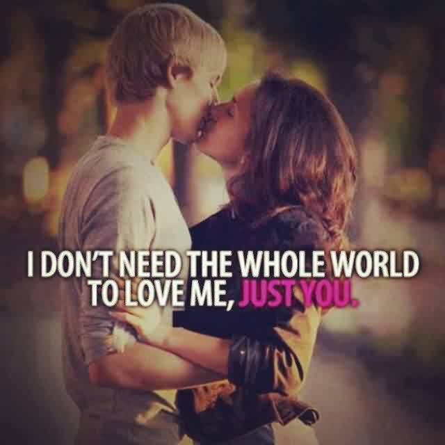 Short Love Quote Image-i Just need you