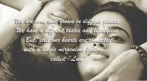 Short Romantic Love Quote-Miraculous Love Feeling Image
