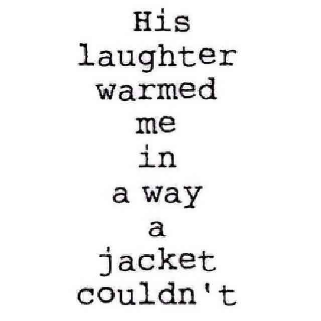 Sweet Love Quote Image-Your Laughter makes me warmed