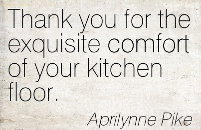 Thank You For The Exquisite Comfort Of Your Kitchen Floor. - Aprilynne Pike