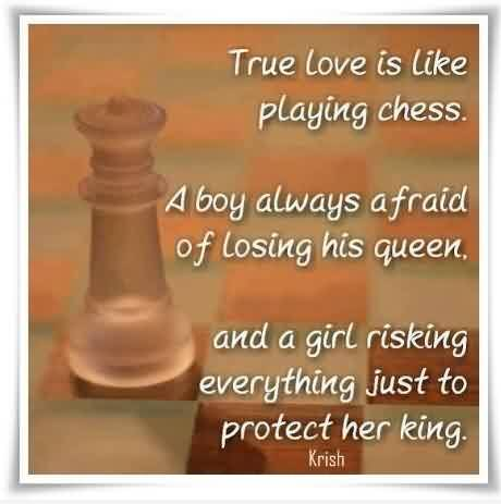 True Cute Love Quote Image-Love is Like playing chess