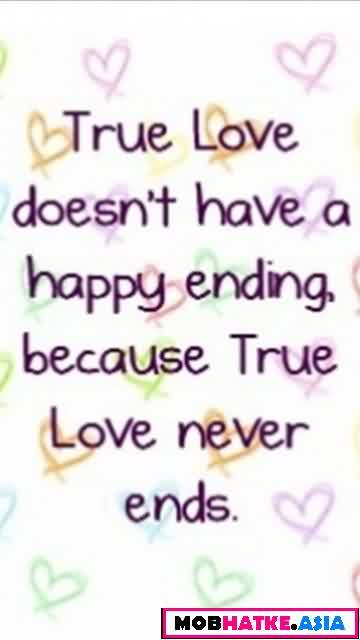 True romantic new Love Quote-Love never ends