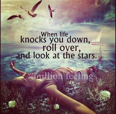 When Life Knocks You Down Roll Over, And Look At The Stars. - Awareness Quotes